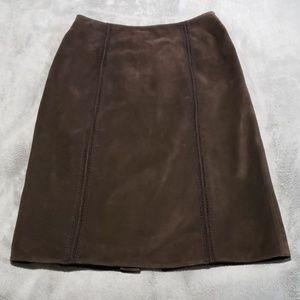 Tahari Arthur S. Levine suede skirt